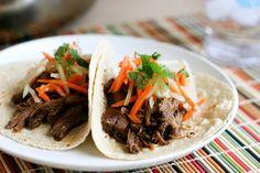 Slow Cooker Korean Short Rib Tacos