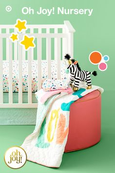 Make Your Nursery Pop With Delightful Oh Joy Nursery Bedding And Decor Inspired By Designer Author And Blogger Joy Cho This Collection Is Infused With