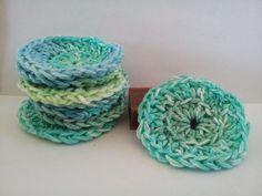 Cotton Face Scrubbies  Seascape by CottonCravings on Etsy, $5.00  An environmental idea!