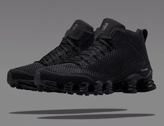 new styles c16f9 46a37 Nike Shox TLX Mid  Triple Black  Cheap Nike Roshe, Nike Air Jordans,