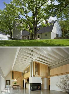 You would NEVER think that was what the inside of this barn house looks like