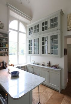 Wall cabinets with clear glass