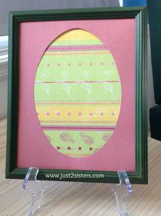 Easy Framed Scrapbook Paper Easter Craft!