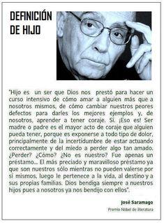 J. Saramago sobre los hijos.