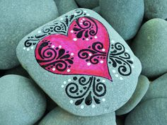 I'm in Love With You / Pink heart Painted Rock / Sandi Pike Foundas / Cape Cod. $38.00, via Etsy.