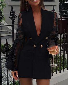 Blazer Outfits, Blazer Dress, Dress Outfits, Fashion Outfits, Blazer Fashion, Shirt Dress, Cute All Black Outfits, Classy Outfits, All Black Professional Outfits