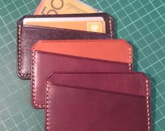 Card Wallet / Leather / Credit Card Holder / Minimal by solidmfgco