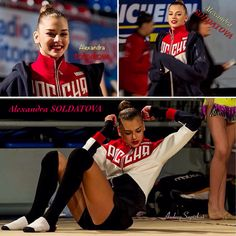 Alexandra SOLDATOVA (Russia)🇷🇺 ~ Collage Warming-up  before she starts on her routine 🍀🍀  Photographer 🇪🇸Andrey Sapizhak.