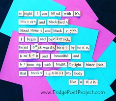 The Daily Magnet #360 Magnetic Poetry; Demagnetize Writer's Block! www.FridgePoetProject.com #writerslife