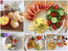 Morgenmad med æg. 5 gode opskrifter på morgenmad med æg. Æg i toastmaskine, røræg med bagte tomater, bacon og timian, æggewraps med pølser og grønt osv.
