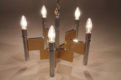 GAETANO SCIOLARI chandelier mid century vintage by VINTAGELAMPDEN, $530.00