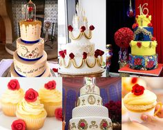 Dica 15 anos - bolo Festa Bela e a Fera 30th Birthday, Birthday Cake, Snow White Birthday, Beauty And The Beast Party, Quinceanera Dresses, Party Planning, Wedding, Food, Mary