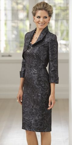 Dress and Jacket set 36 | Isabella Fashions | Mother of the bride dresses, plus sizes, and evening wear