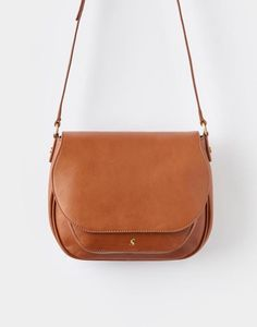 Joules Leather Darby Women S Saddle Bag Tweed And Bags