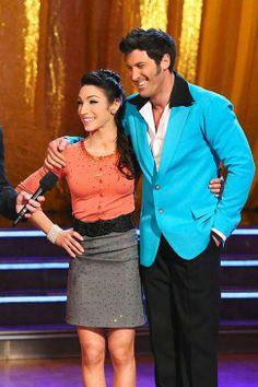 Maks Chmerkovskiy & Meryl Davis get judges feedback after dancing an Elvis jive  -  Dancing With the Stars  -  Week 9  -  Season 18  -  Spring 2014