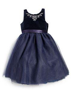Ralph Lauren - Toddler's & Little Girl's Velvet Party Dress