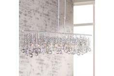Clear Crystal Chrome 48-Inch-W Luminous Chandelier - #EU72842 - Euro Style Lighting