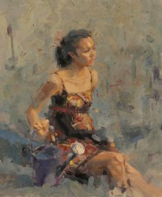Bronwyn  oil on canvas  24in X 20in   by Aaron Coberly