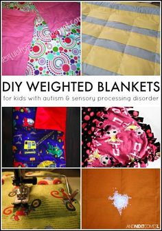 How to make a DIY weighted blanket for kids with autism and/or sensory processing disorder from And Next Comes L