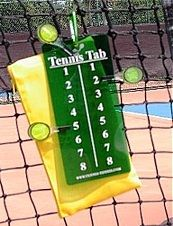 Carry this portable scorekeeper for tennis matches in your tennis bag.