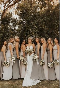 Photo Cred: Nicole Kirshner Mismatched Bridesmaid Dresses, Blue Bridesmaids, Wedding Bridesmaid Dresses, Dream Wedding Dresses, Bridesmaid Dress Colors, Bridesmaid Photos Ideas, Bridesmaids In Different Dresses, Tight Wedding Dresses, Indian Wedding Gowns