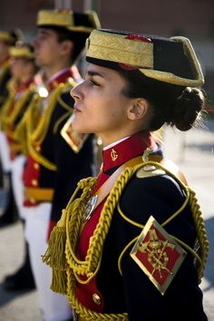 Guardia Civil mujer de España. Civil Guard woman from Spain
