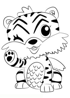 happy birthday tiger coloring pages | Print Hatchimals happy newyear 2017 hatchy coloring pages ...