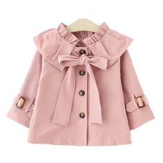 Cheap girls trench coats Buy Quality autumn girls directly from China girls trench Suppliers: 2017 Spring Autumn Girls Trench Coat Fashion Infant Toddler Outwear Children Clothing Kids Blazer Jackets Baby Girls Clothes Fashion Kids, Little Girl Fashion, Latest Fashion, Trendy Fashion, Style Fashion, Winter Fashion, Girls Trench Coat, Trench Coats, Baby Boutique Clothing