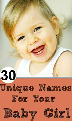 Top 30 Unique Names For Your Baby Girl