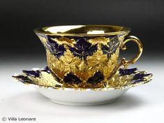 Rakuten] [Meissen Cobalt & deluxe Aya Kon cup & saucer: Villa Leonare