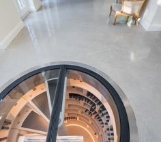 This stunning example of Cream Buff Lazenby Polished Concrete creates a warm and inviting feel to polished concrete a change from the perception that polished concrete is harsh and industrial.