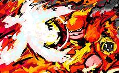 One of my personal favorites that's also been highly requested—I present to you Magmortar using Fire Blast. Fire Pokemon, Pokemon Fan Art, My Pokemon, Pokemon Cards, Mega Evolution Pokemon, Otaku, Cool Pokemon Wallpapers, Graffiti, Dibujo