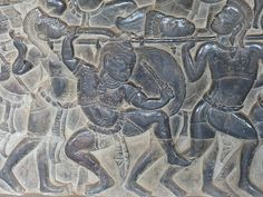 Bas-relief of the Battle of Kurukhsetra from the Mahabharata - detail