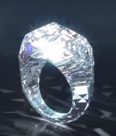 "own the ""world's first all diamond ring"""