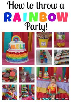 How to throw a Rainbow Party! Lots of tips and tricks for a colourful party fit for any little girl.