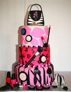 Animal Print Makeup Cake