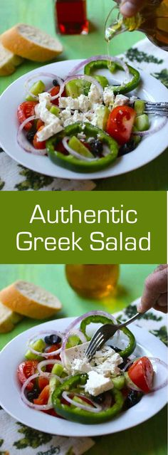 Greek Salad (Horiatiki salata) is one of the most famous salads around the world. Discover the authentic version of this emblematic salad! #greek #salad #196flavors