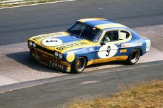 The Ford Capri RS 2600 of Fritzinger/Heyer at the Touring Car GP 1973 (Photo by Lothar Spurzem)