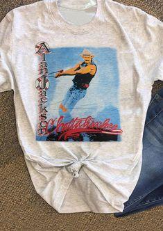 Alan Jackson Chattahoochee T-Shirt Tee Pop Fashion, Unique Fashion, Womens Fashion, Tank Tank, Tanks, Cute Tshirts, Tee Shirts, Doberman Pinscher Puppy, Baby Puppies