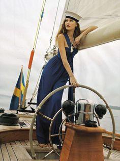 Chic Nautical Fashion Model Catherine McNeil