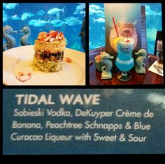 The #Tidal #Wave @ #Landry #Resturant, #Denver #Aquarium the #Banana #Liqueur in it was #Fantastic! And isn't that the Prettiest #Salad ever. It is the #Lobster stack . . #Bar #mixology #tequila #Vodka #scotch #bourbon #whiskey #booze #cocktails #rum #gin #beer #alcohol #wine #seafood #drinks #fish #shots