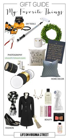 My Favorite Things Gift Guide and Giveaway - Life On Virginia Street