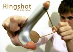 Ringshot turns your hand into a Slingshot kind of a multi-tool...