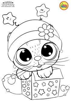 Cuties Coloring Pages for Kids - Free Preschool Printables - Slatkice Bojanke - Cute Animal Coloring Books by BonTon TV Farm Animal Coloring Pages, Unicorn Coloring Pages, Coloring Sheets For Kids, Cute Coloring Pages, Disney Coloring Pages, Printable Coloring Pages, Adult Coloring, Coloring Books, Free Preschool