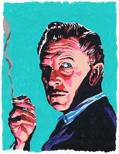 Vincent Price (original painting small). $125.00, via Etsy.