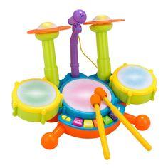 a064d058c BOBORA Tambor Infantil Set de Batería Instrumentos Musicales Juguete Musical  Educativo Electrónico para Niños Bebé:
