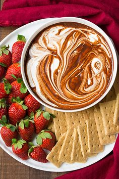 """This S'mores dip, made from only 3 ingredients, just might satisfy my s'mores craving when I'm not grilling. And it would be perfect for winter """"picnicking"""" or anytime sleepovers."""