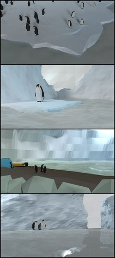 #low poly #penguins and icy world made using #Blender3D https://www.youtube.com/watch?v=IRKqUWbihdo