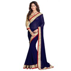 Pretty Georgette Embroidered Work Festive Wear & Party Wear Saree at just Rs.730/- on www.vendorvilla.com. Cash on Delivery, Easy Returns, Lowest Price.