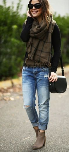 Street Style - Destroyed Jeans